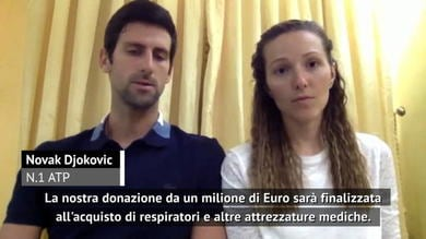 """Djokovic: """"Un milione di euro per lotta contro il coronavirus"""""""