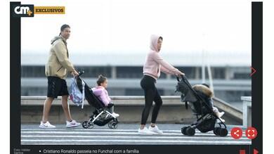 Coronavirus, Juventus: Cristiano Ronaldo a passeggio con la famiglia a Funchal