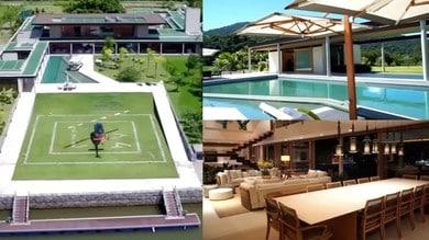 Neymar, ecco la casa per la quarantena con l'eliporto e il molo