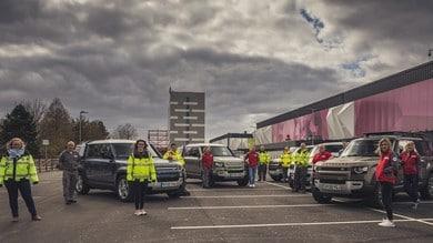 Jaguar e Land Rover, 160 mezzi per la Croce Rossa