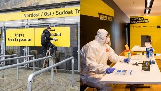 Coronavirus, lo stadio del Borussia Dortmund si trasforma in ospedale