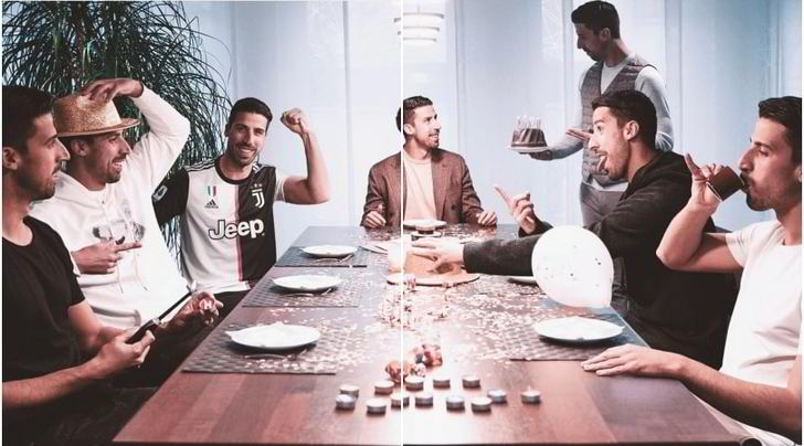 """Juve: """"Tanti auguri Khedira"""" e Sami scherza su Instagram"""