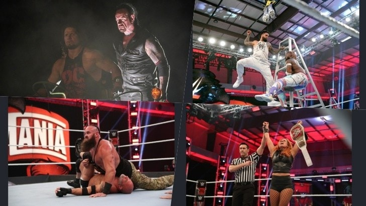 WrestleMania 36, Undertaker trionfa nel Boneyard match