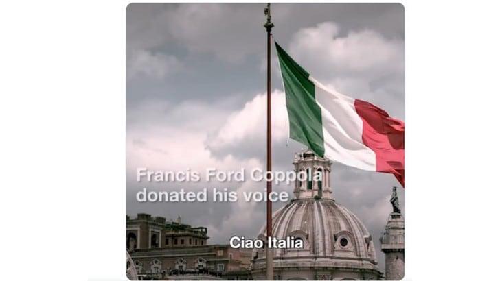 Coronavirus, Fiat e Francis Ford Coppola: parole d'amore per l'Italia VIDEO