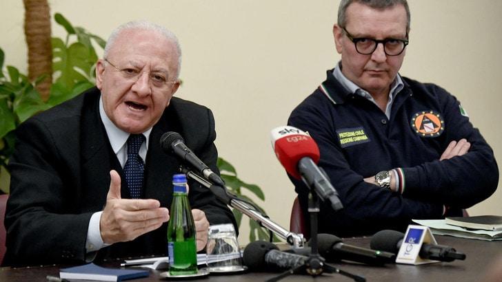 """Coronavirus, De Luca: """"A metà maggio la Campania sarà fuori dall'emergenza"""""""