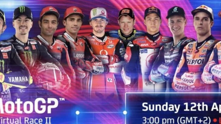 MotoGP, al via l'evento Virtual Race 2