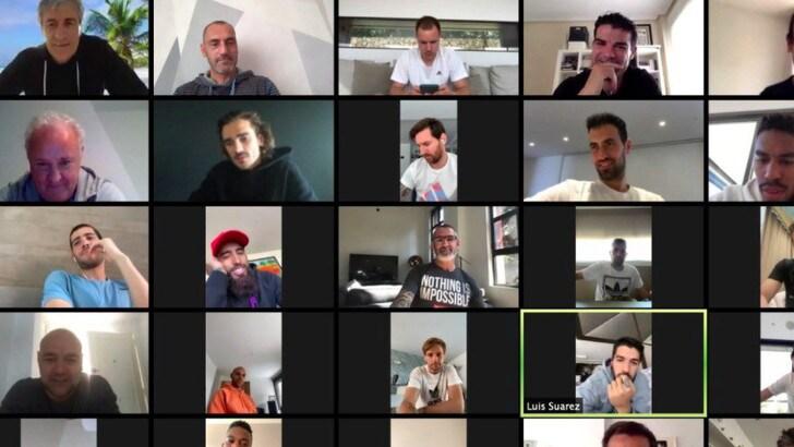 Coronavirus, il Barcellona in videoconferenza