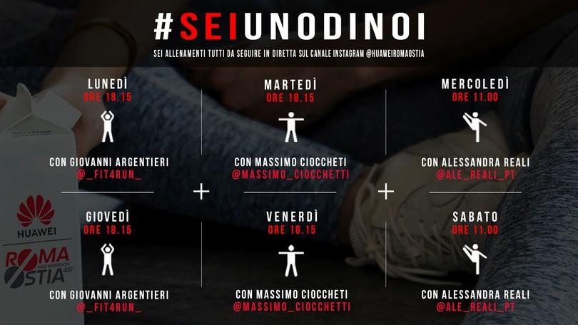 #Seiunodinoi, allenati con la Huawei RomaOstia!