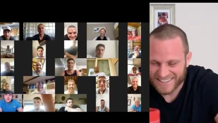 Rugby, capitan Bigi festeggiato a sorpresa: auguri in videochiamata