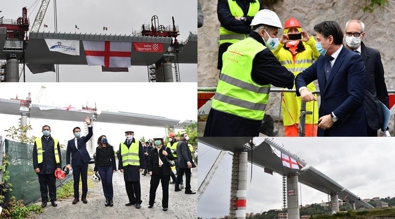 Inaugurato il nuovo ponte di Genova: c'è anche il premier Conte