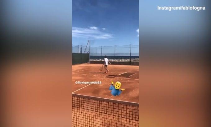 """Tennis, scontro """"amichevole"""" tra Fabio Fognini e Flavia Pennetta"""