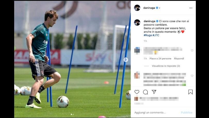 "Juve, Rugani torna a sorridere: ""Basta un pallone per essere felici"""