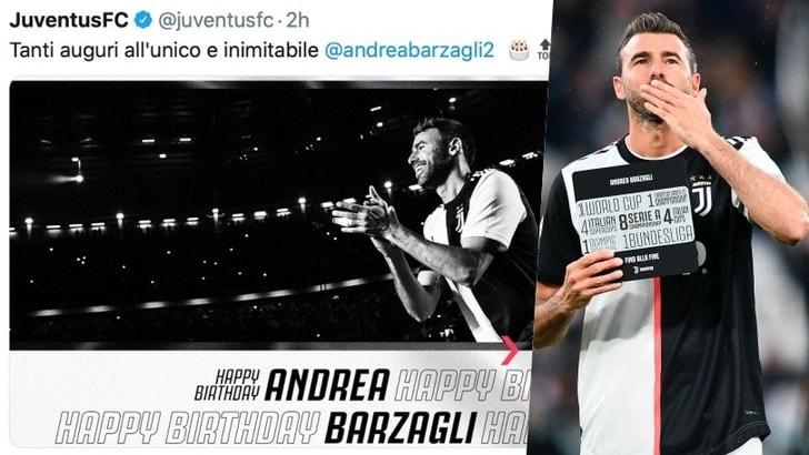 Barzagli compie 39 anni, gli auguri della Juve: