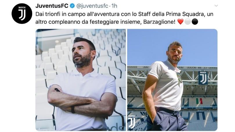 """Barzagli compie 39 anni, gli auguri della Juve: """"Unico e inimitabile"""""""