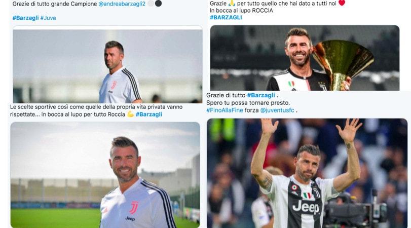 """Juve, i tifosi salutano Barzagli sui social: """"Grazie di tutto"""""""