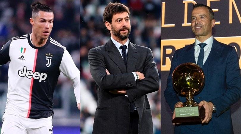"""France Football: """"Ronaldo, Agnelli e Mendes tra i 10 più influenti nel calcio"""""""