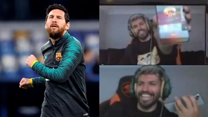 Messi risponde ad Aguero in diretta: