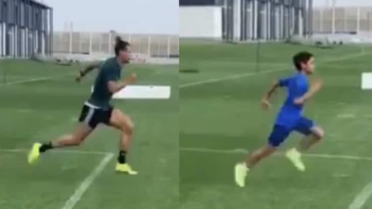 Juve, per Ronaldo scatti alla Continassa... con il figlio