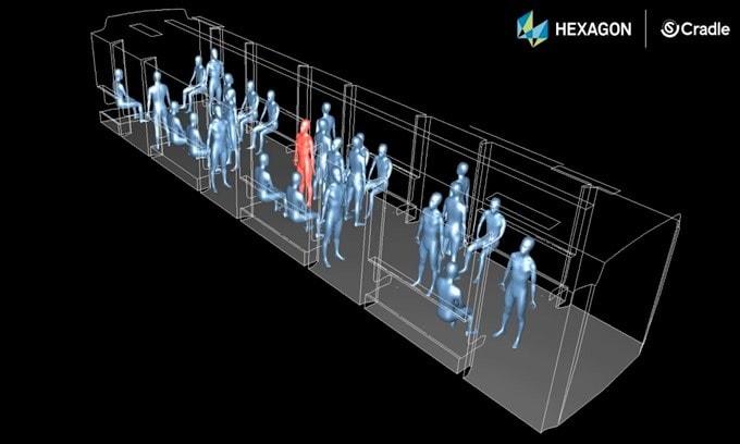 Coronavirus, simulazione di contagio in metro