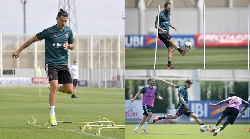 Juve, Higuain riprende confidenza col pallone. Ronaldo e Khedira già al top
