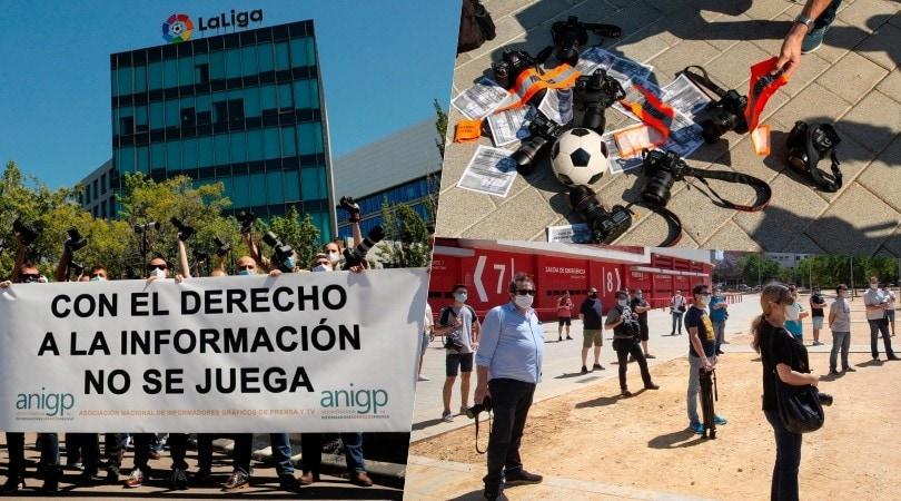 Liga, i fotografi protestano per il divieto di accesso agli stadi
