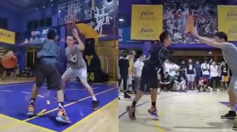 Fuoriclasse a basket con un solo braccio: il video è virale