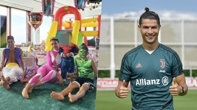 Ronaldo è Aladdin e Georgina un Power Ranger: la festa a casa CR7