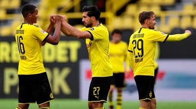 Emre Can, gol vittoria per il Dortmund. Poker Bayern con Coman