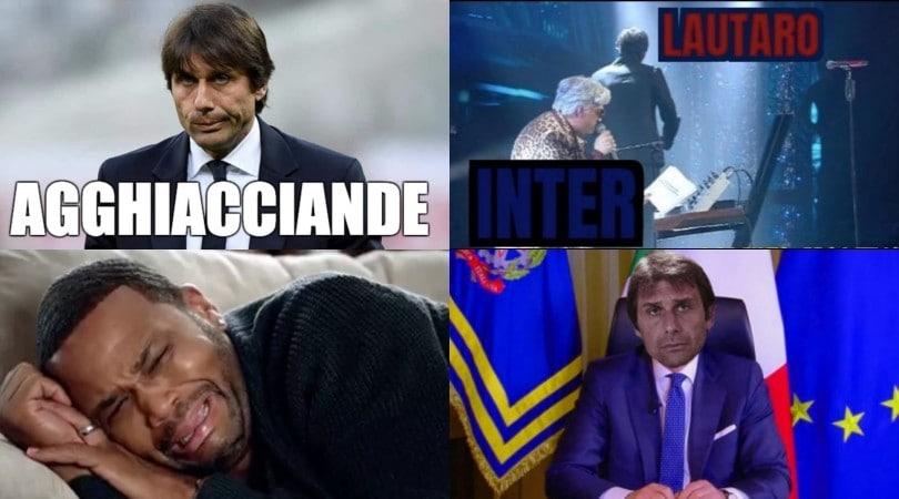 Conte e l'Inter fuori dalla Coppa Italia: sui social partono le ironie