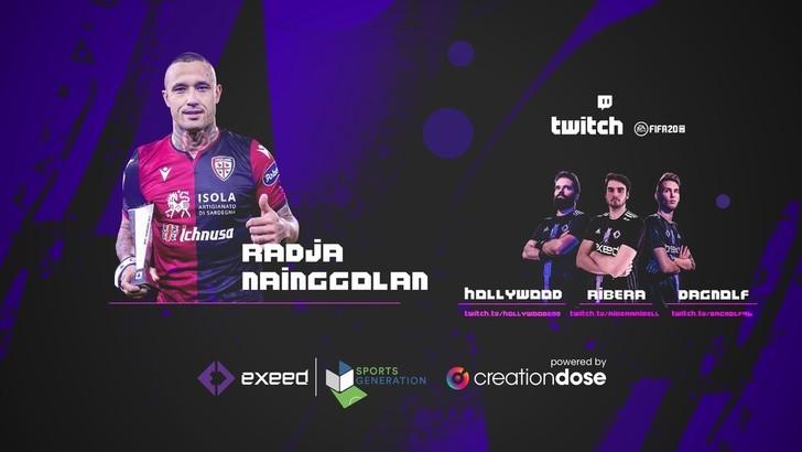 Nainggolan e i pro player di Exeed si sfidano su FIFA
