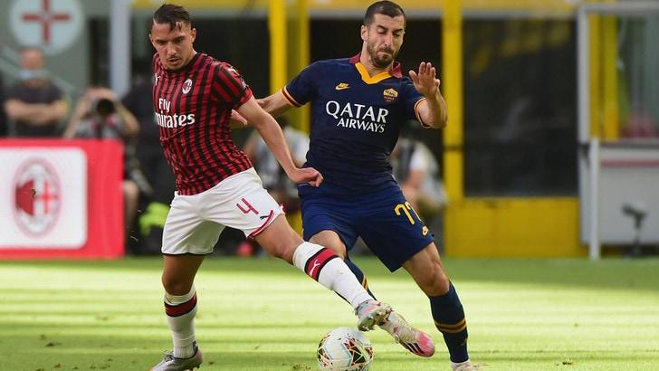 Milan-Roma 2-0, il tabellino