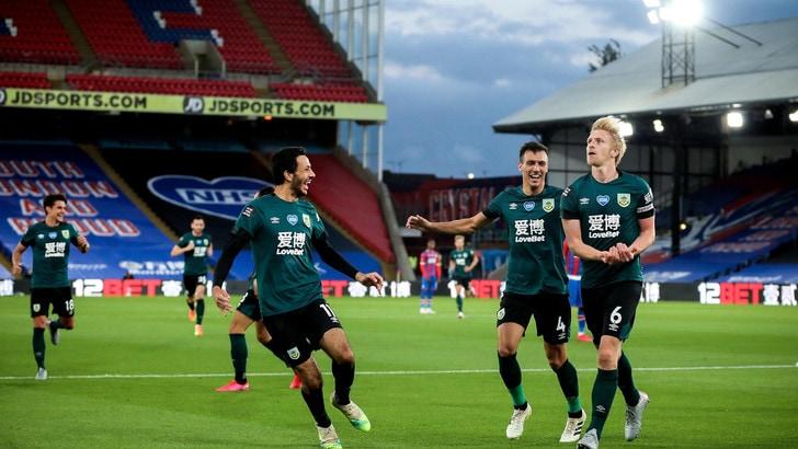 Premier League, Crystal Palace ancora ko: colpo del Burnley