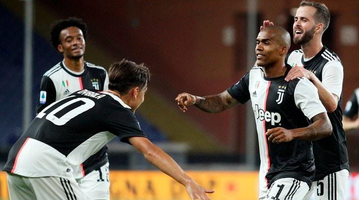 Genoa-Juve 1-3: magie di Dybala, Ronaldo e Douglas Costa