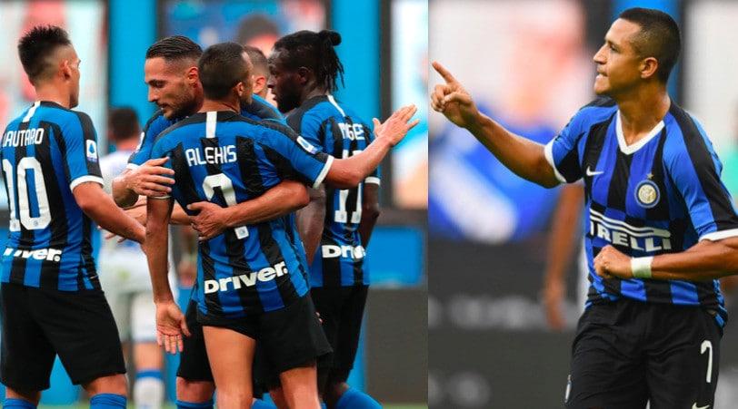 Sanchez protagonista nel 6-0 dell'Inter al Brescia