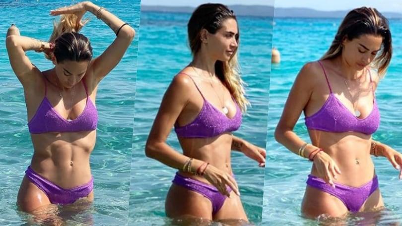 Melissa Satta, relax al mare in Sardegna: è in forma perfetta
