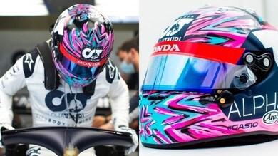 Gasly, casco speciale per il ritorno della F1