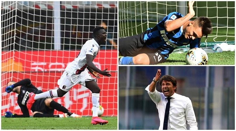 Urlo Bologna: l'Inter perde in casa. Conte infuriato!