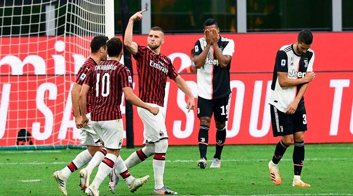 Milan-Juventus 4-2: non bastano Rabiot e Ronaldo, Sarri resta a +7 dalla Lazio