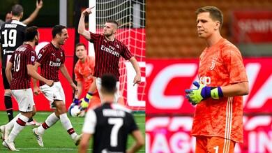Szczesny a Rebic in Milan-Juve: