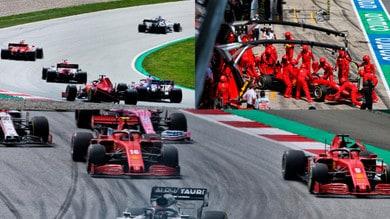 Choc Ferrari! Leclerc centra Vettel in partenza