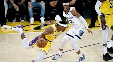 Nba, infortunio per i Los Angeles Lakers: Rondo si frattura il pollice