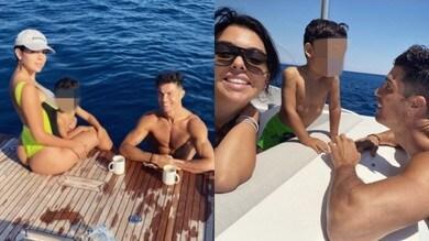 Ronaldo e Georgina in barca: relax in famiglia