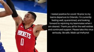 NBA, Westbrook è positivo al Coronavirus