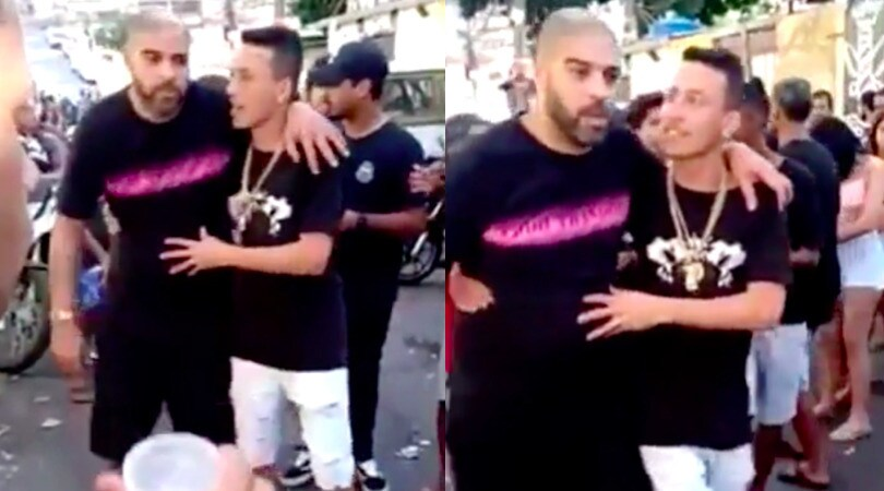 Adriano ubriaco in giro per Rio de Janeiro