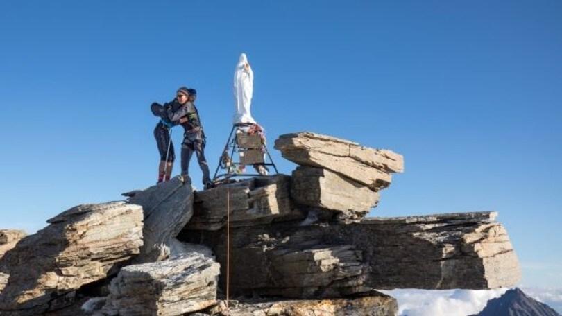 A Maguet e Antonioli il nuovo record di ascesa e discesa del Gran Paradiso