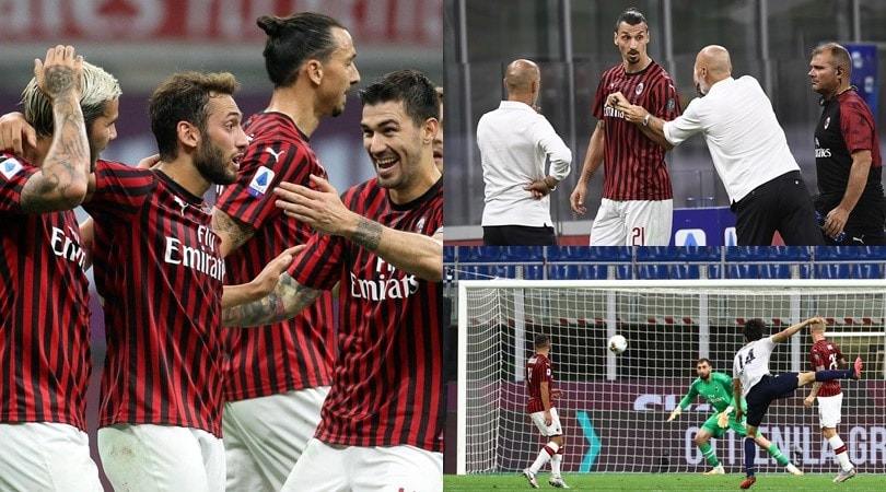 Milan show col Bologna, ma che gol Tomiyasu! Ibra non prende bene il cambio