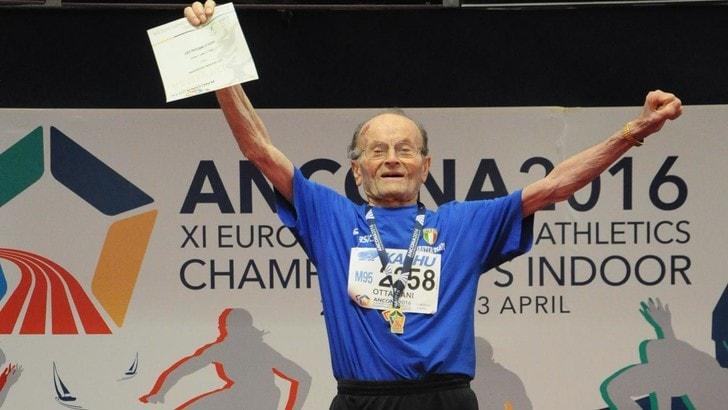 Si è spento Giuseppe Ottaviani, 104 anni e simbolo dell'atletica master