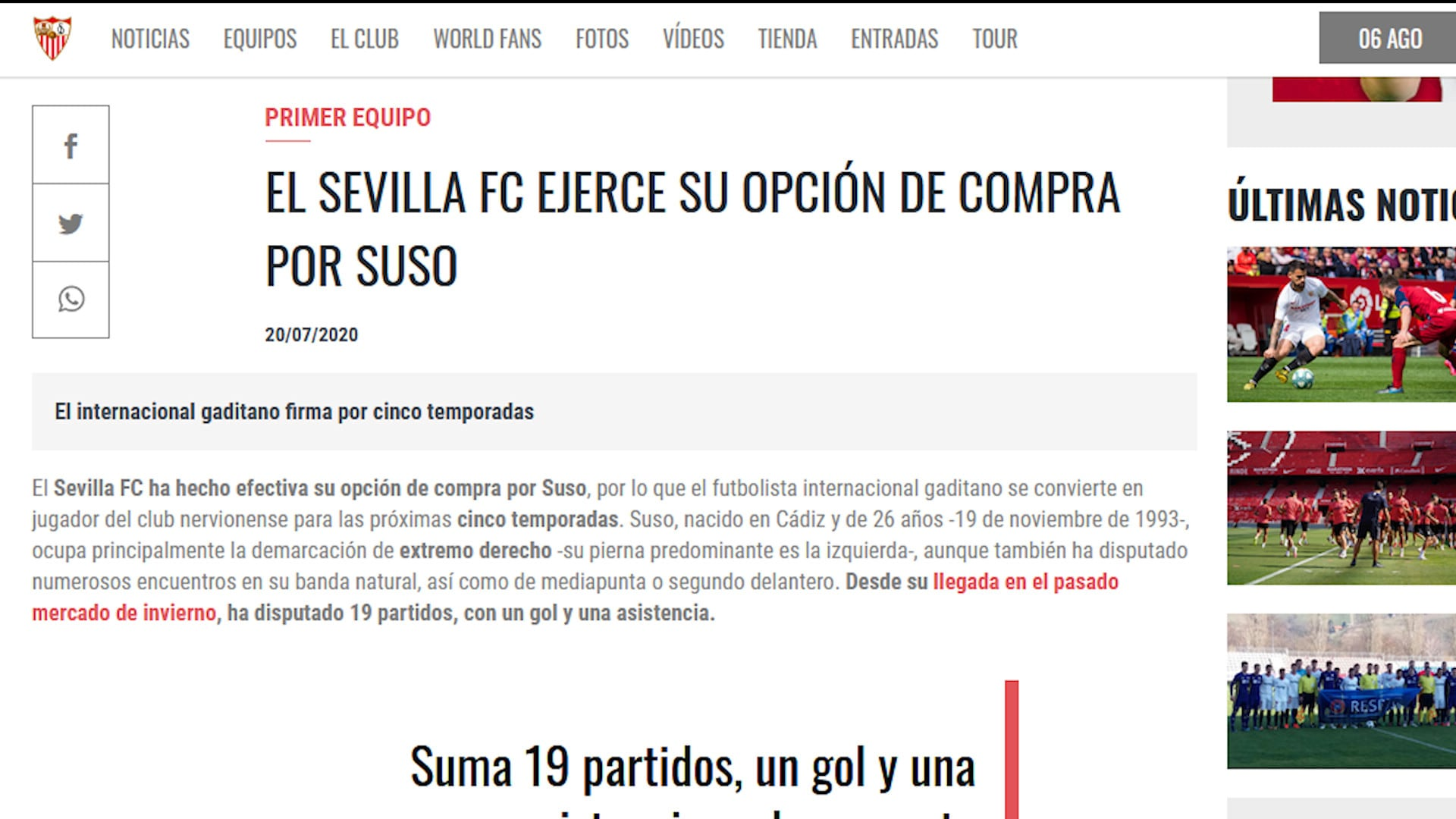 Milan, ora è ufficiale: Suso al Siviglia definitivamente