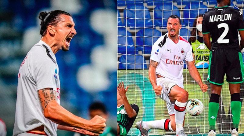 Milan, Ibrahimovic show: che doppietta contro il Sassuolo