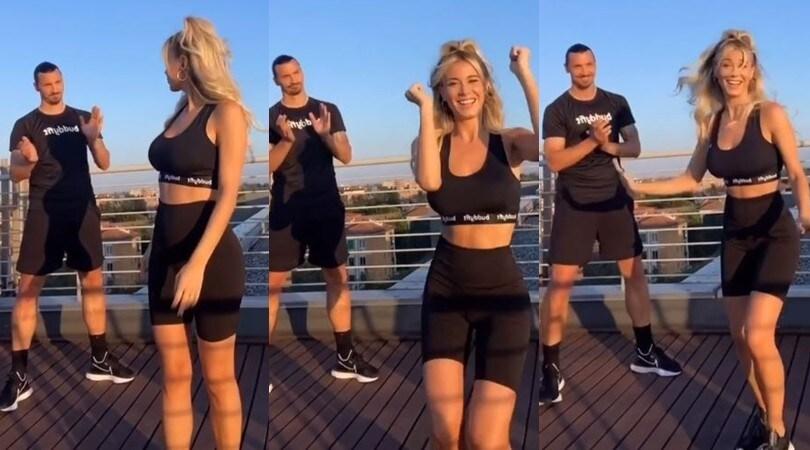 Diletta Leotta, nuovo balletto su TikTok ma da dietro spunta Ibrahimovic!